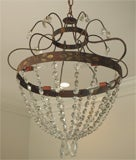 Crystal, Painted Iron Chandelier image 6
