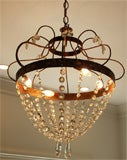 Crystal, Painted Iron Chandelier image 7