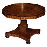 Inlaid Pedestal Table