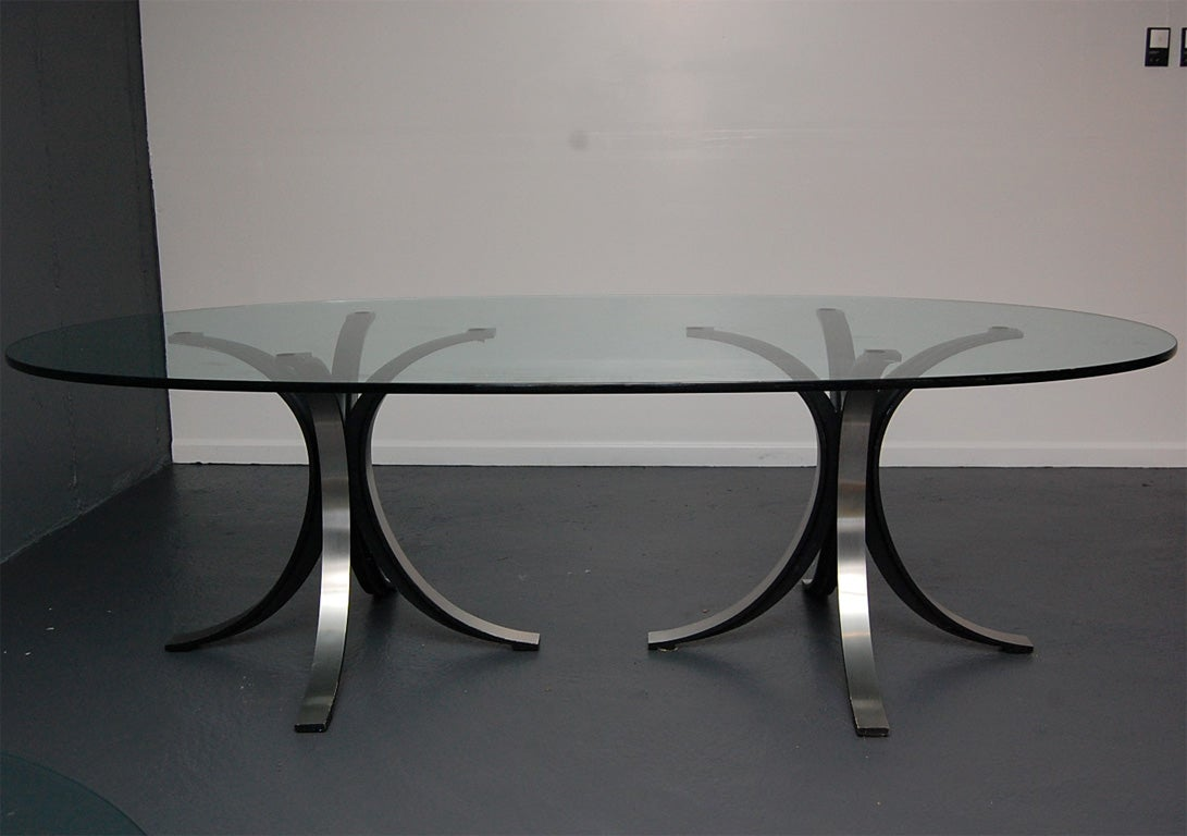 Italian Oval Glass DiningConference Table by Borsani for  : DSC0119 from 1stdibs.com size 1091 x 768 jpeg 73kB