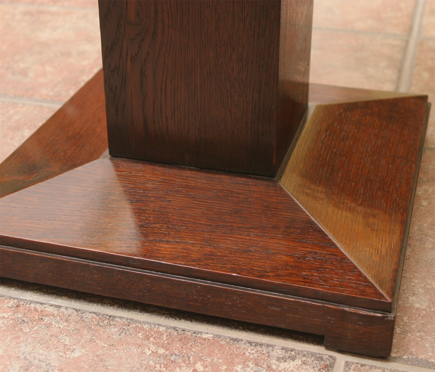 ARTISAN CRAFTED TABLE WITH COPPER INLAY AND TOP At 1stdibs
