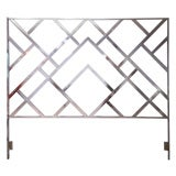 70's King-Sized Chrome Chinese Chippendale Headboard