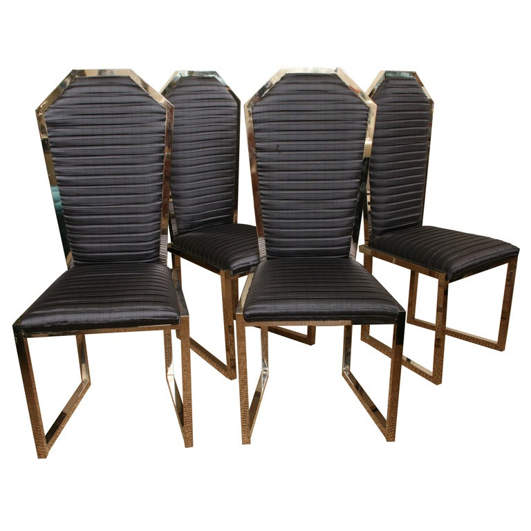 Four Dramatic Game Table Chairs Sale At 1stdibs
