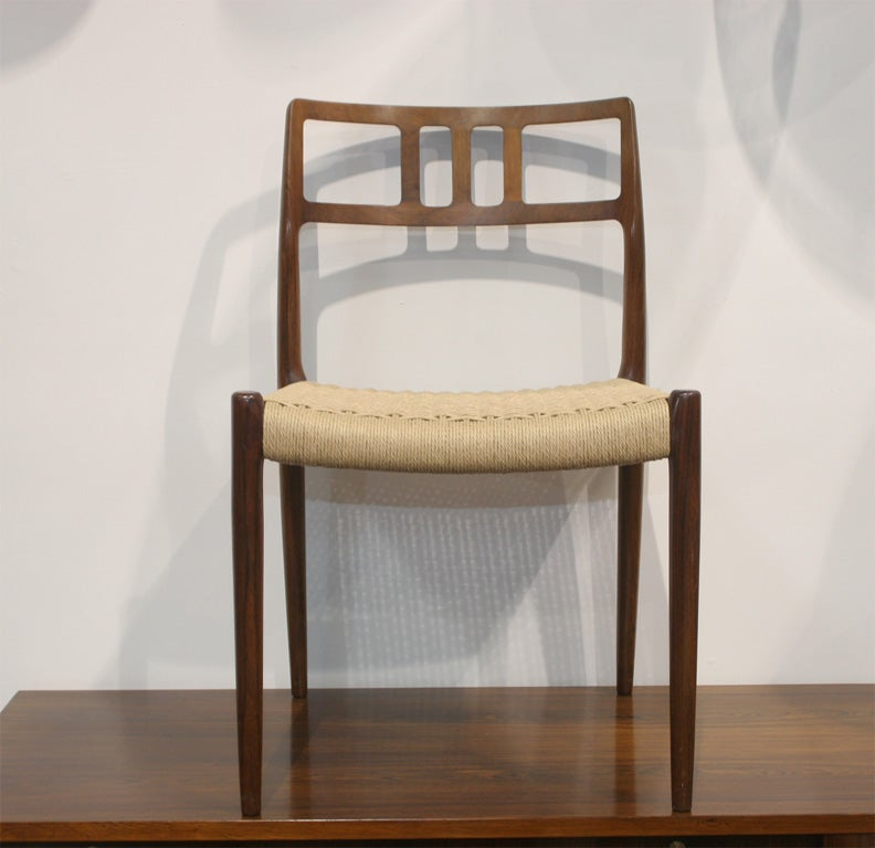 Rosewood Chair By Niels Moller At 1stdibs