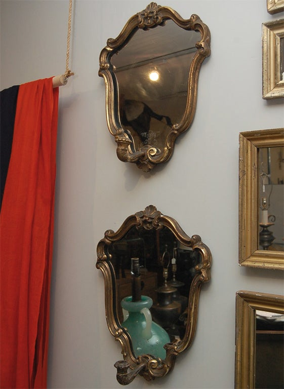 Italian Candle Wall Sconces : Italian Mirrored Candle Sconces at 1stdibs
