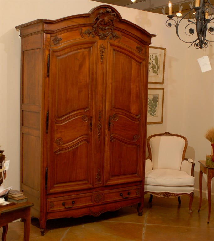 19th Century French Cherry Wood Armoire with 4 drawers For ...