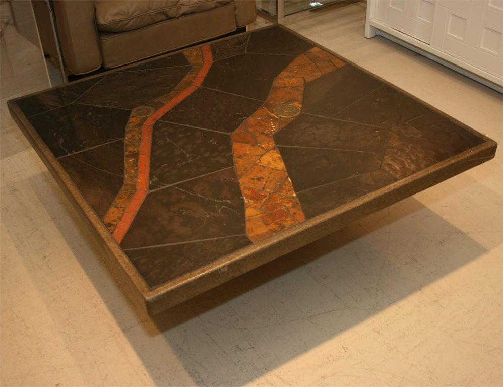 Slate coffee table at 1stdibs