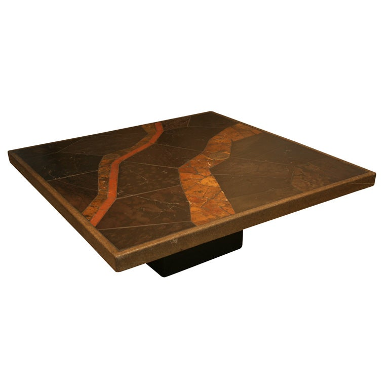 Slate Coffee Table At 1stdibs