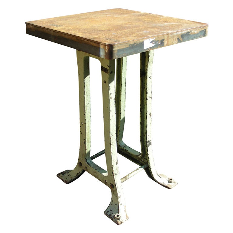 Tall 1900 cast iron side table for sale at 1stdibs for Cast iron end table