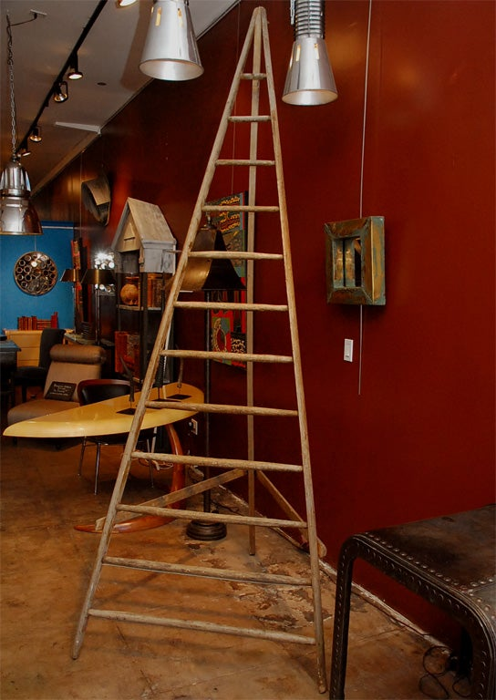 20th Century French Wooden Orchard Ladder For Sale