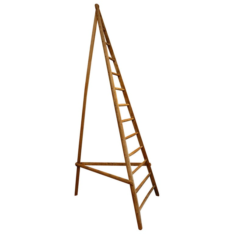 French Wooden Orchard Ladder For Sale