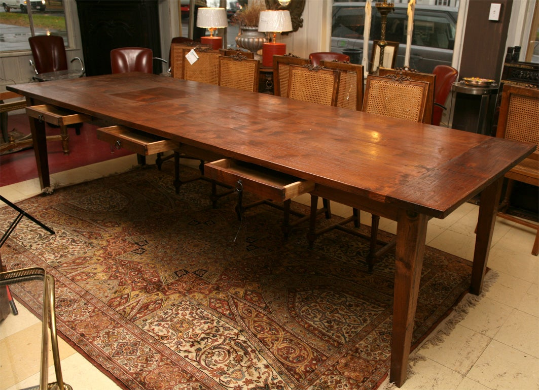 10 Dutch Colonial Indoor Or Outdoor Teak Dining Table At