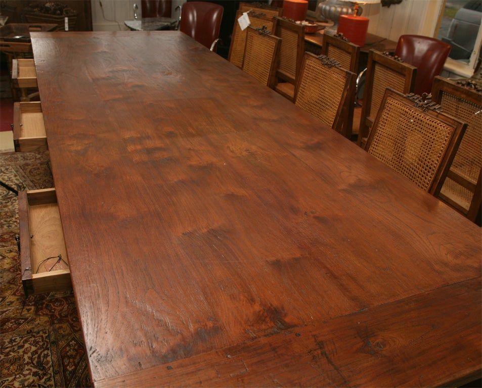 10 39 dutch colonial indoor or outdoor teak dining table at 1stdibs