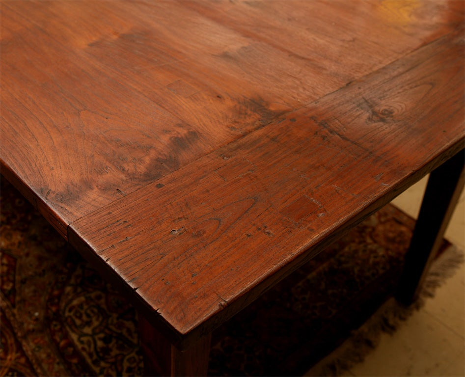 10 39 dutch colonial indoor or outdoor teak dining table at