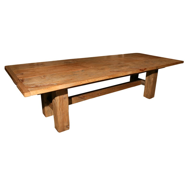 Barn Beam Farm Table At 1stdibs