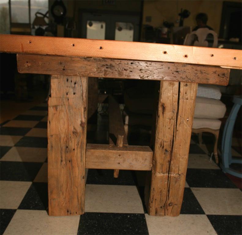 Barn Beam Farm Table At 1stdibs
