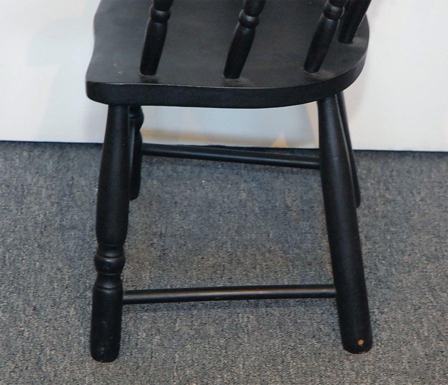 19th c ne original black painted windsor captain s chair at 1stdibs