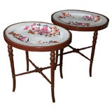 Pair of Flight, Barr and Barr Porcelain Tray Tables