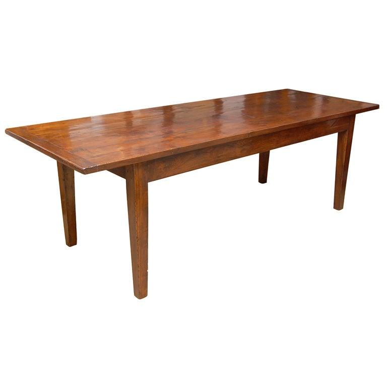 9 Foot Long English Chestnut Farm Dining Table at 1stdibs