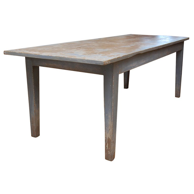 and Long Sycamore Painted Farm Dining Table at 1stdibs