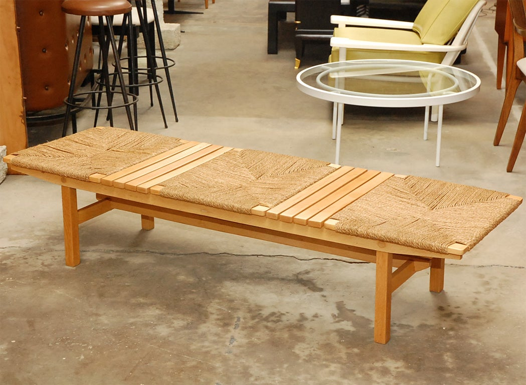 Unique Birch And Straw Bench Or Coffee Table At 1stdibs