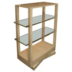 MARX ETAGERE WITH LUCITE SHELVES
