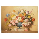 """Urn of Flowers"" Still Life Painting"