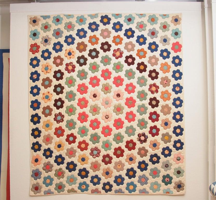 Antique pieced quilt.