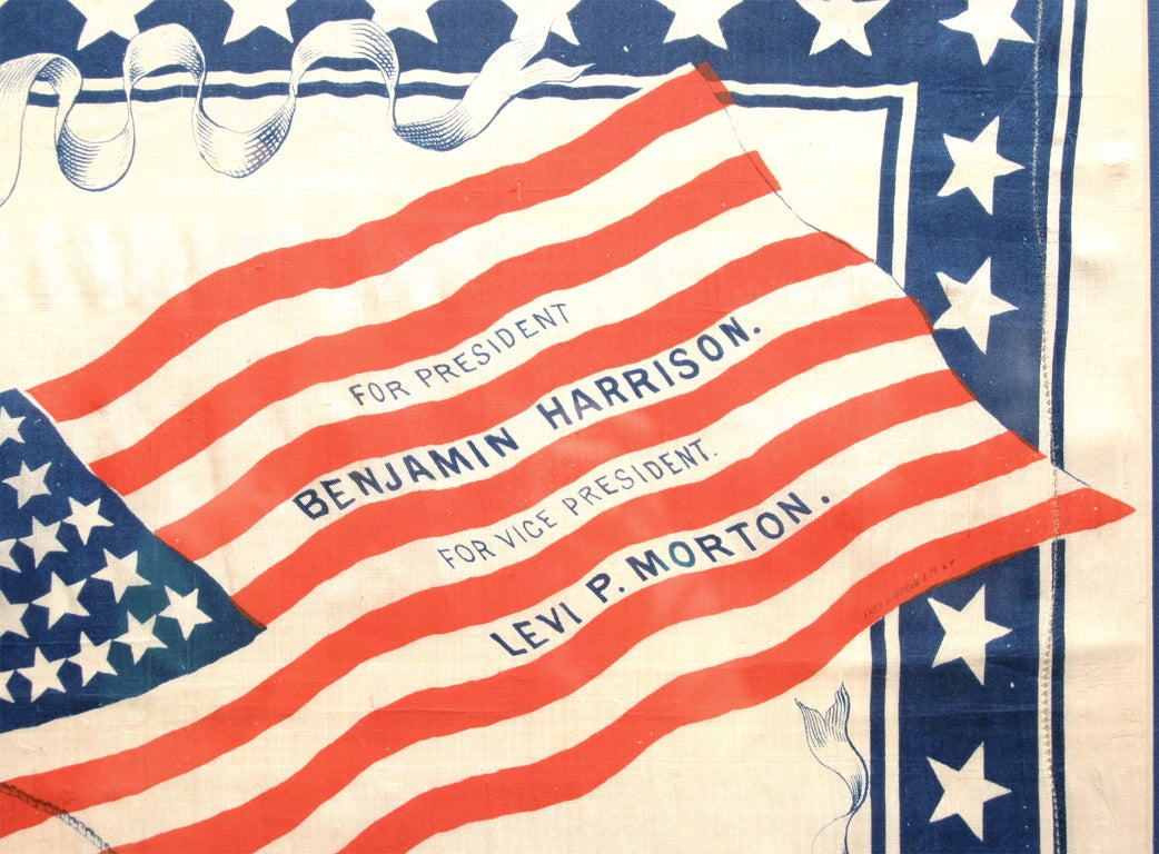19th Century Political Bandanna For Sale