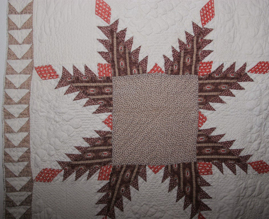 Antique pieced quilt.