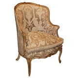 Nineteenth century French gold leaf and painted bergere.