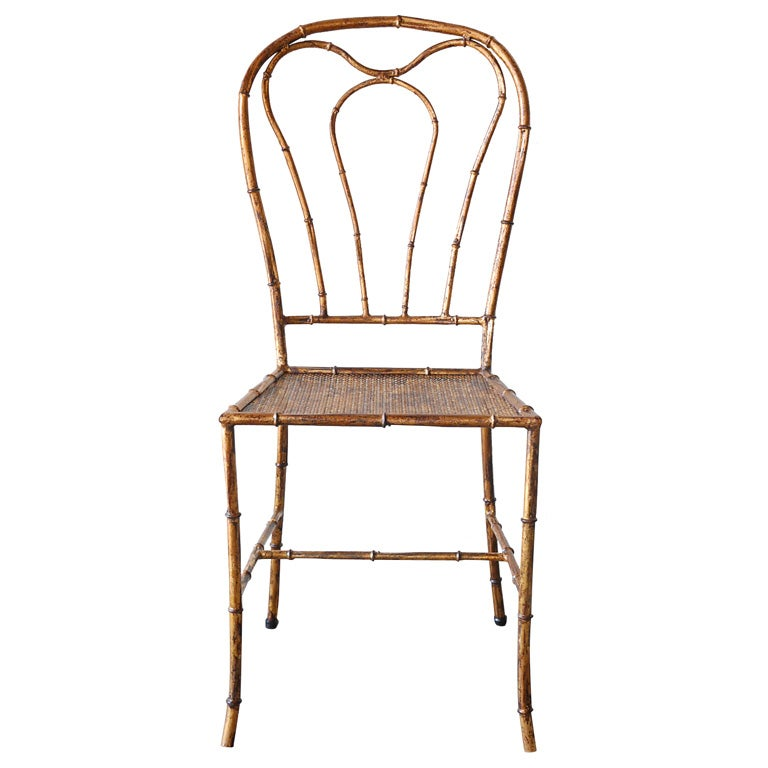 Gilded Faux Bamboo Chair At 1stdibs