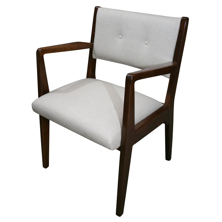 Set of 8 jens risom solid walnut dining chairs at 1stdibs - Jens risom dining chairs ...