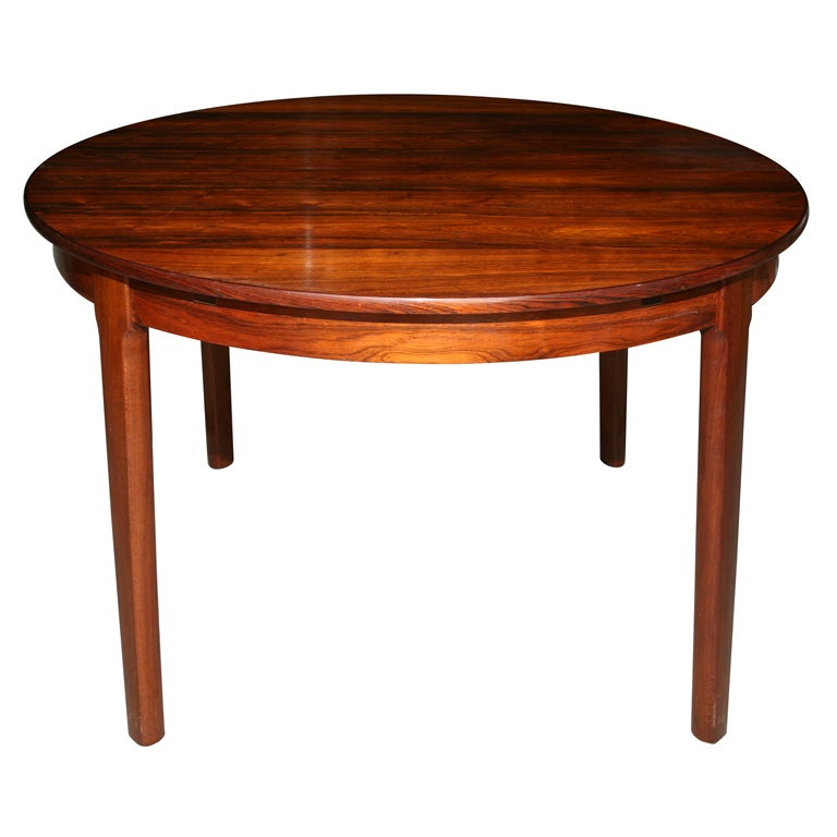 Round Rosewood Dining Table At 1stdibs