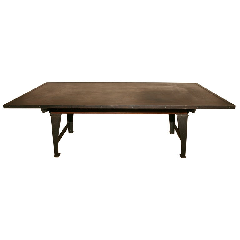 Industrial Style Dining Table At 1stdibs