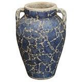 Blue Crackle Vase by Bouck White