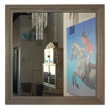 Large Cerused Oak mirror by James Mont