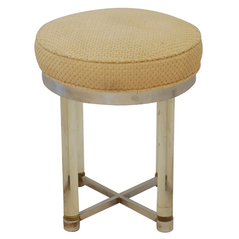 Charles Hollis Jones Lucite Stool At 1stdibs