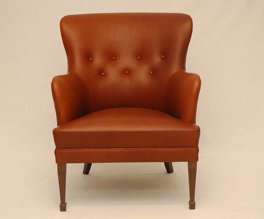 Scandinavian Modern Frits Henningsen Arm Chair For Sale