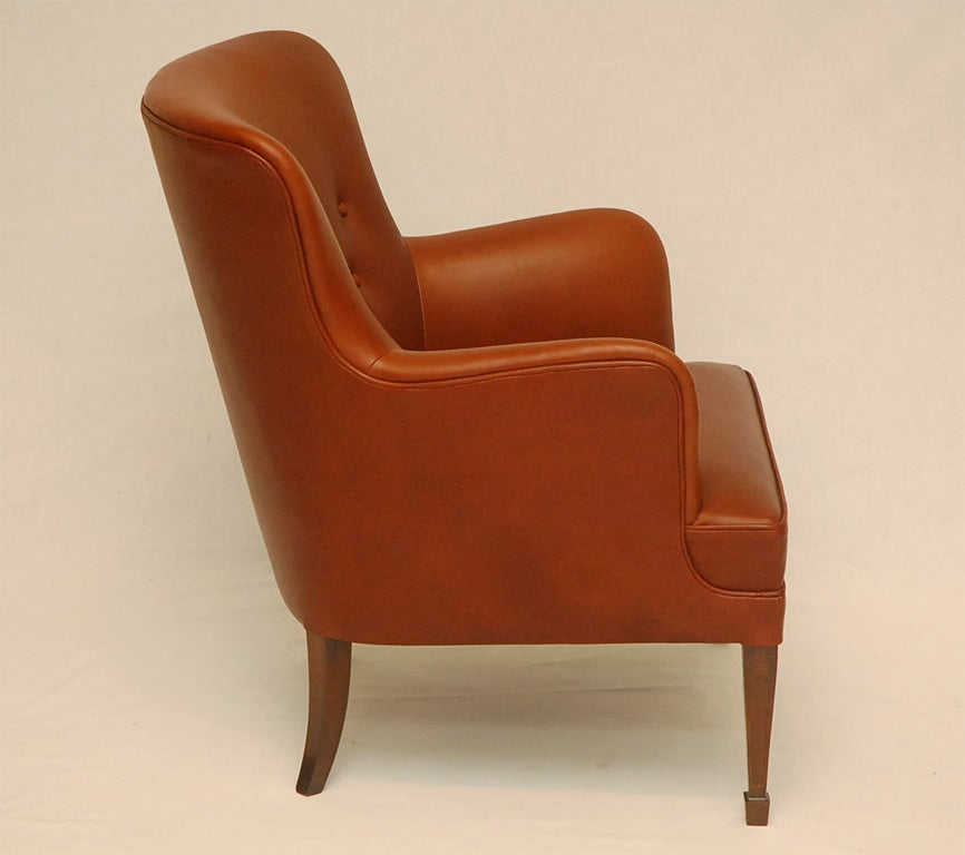 Frits Henningsen Arm Chair In Excellent Condition For Sale In Los Angeles, CA