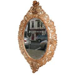 Large Scottish Carved Pine Mirror