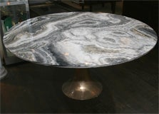 Large and Rare Dining Table by Angelo Mangiarotti for Bernini image 2