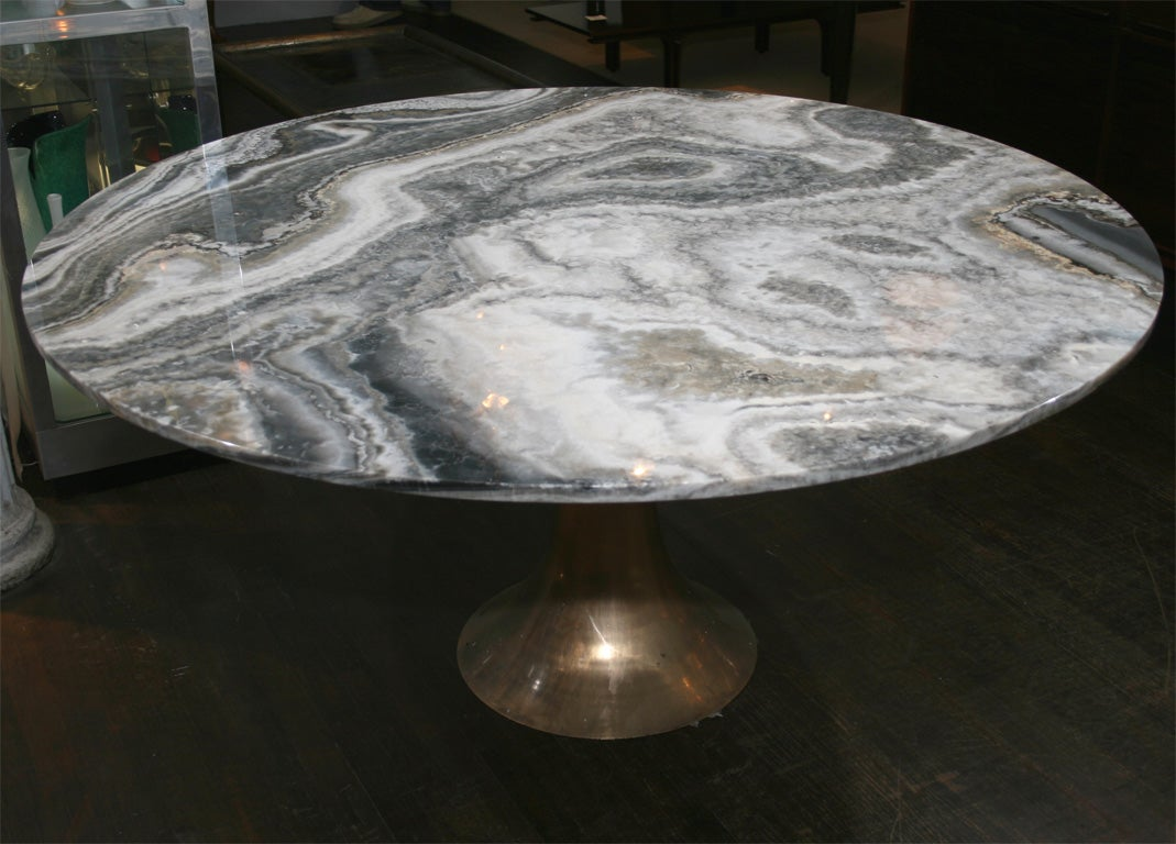 Large and Rare Dining Table by Angelo Mangiarotti for Bernini 2