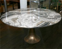 Large and Rare Dining Table by Angelo Mangiarotti for Bernini image 3