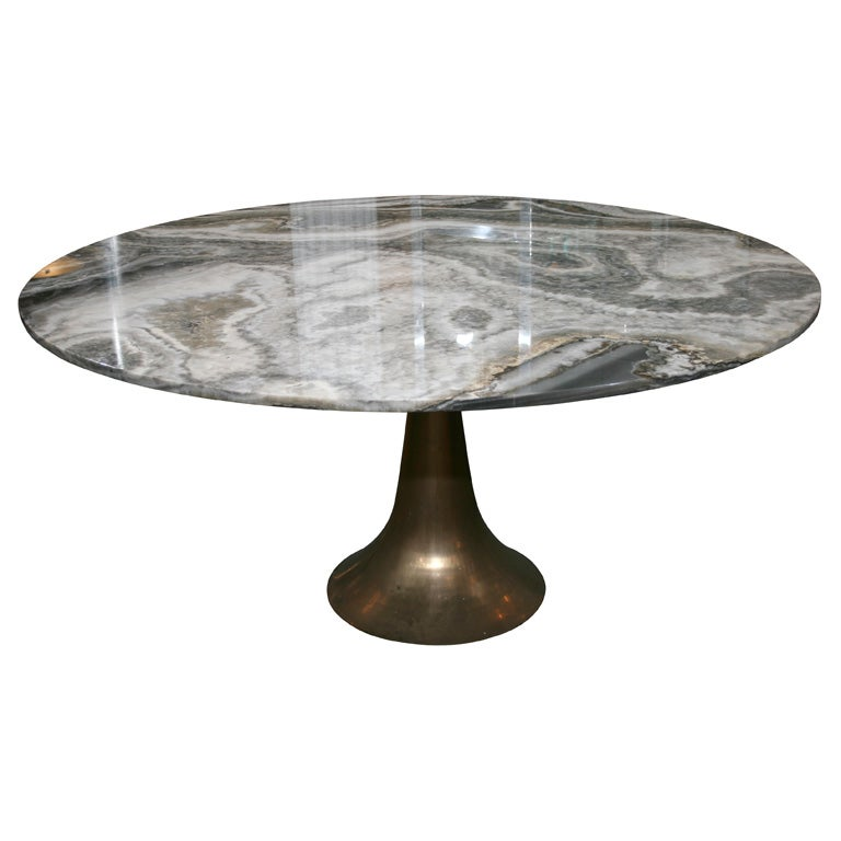Large and Rare Dining Table by Angelo Mangiarotti for Bernini 1
