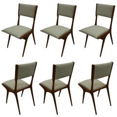 Set of 6 Dining Chairs by Carlo Di Carli