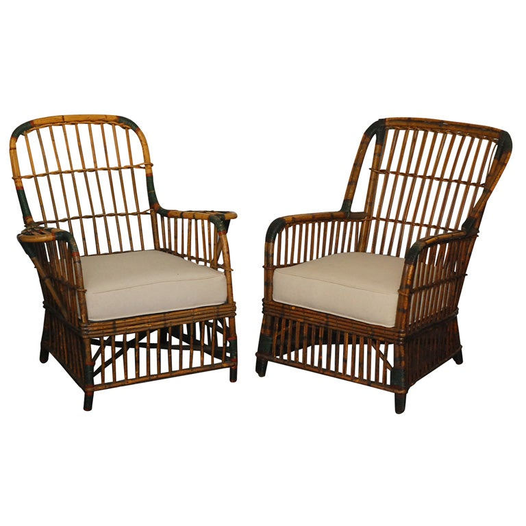 Bamboo Chair With Arms: Bamboo Arm Chair At 1stdibs