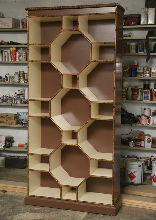 Forties Inspired Bamboo Lacquered Cabinet 2