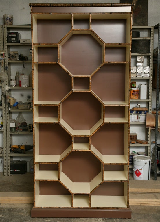 Forties Inspired Bamboo Lacquered Cabinet 3