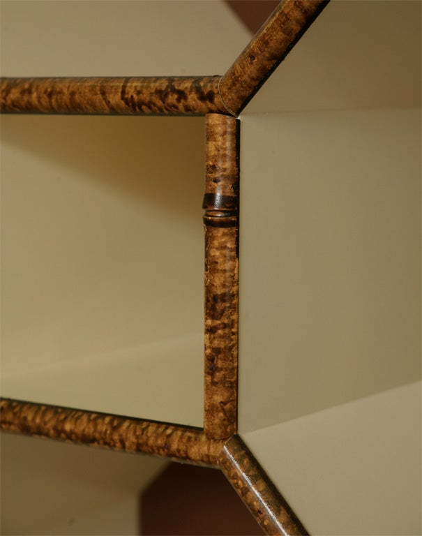 Forties Inspired Bamboo Lacquered Cabinet 5
